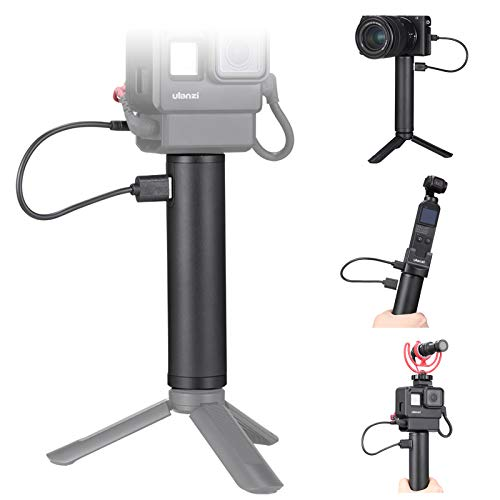 ULANZI BG-2 6800mAh Power Bank Hand Grip for Sony RX100 VII Canon G7X Mark III Compact Digital Cameras, GoPro 8 7 6 5 Action Cameras, DJI OSMO Pocket, and iPhone 11 Samsung Google OnePlus Smartphones