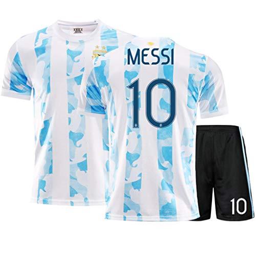 LASERIPLF 2020-2021 Argentinien (Heim und Auswärts) Fußball Trikot, Messi Di María Fußballtrikot-Kits T-Shirt Shorts für Kinder/Männer/Jugendliche/Jungen, Sportswear-Set-G-22