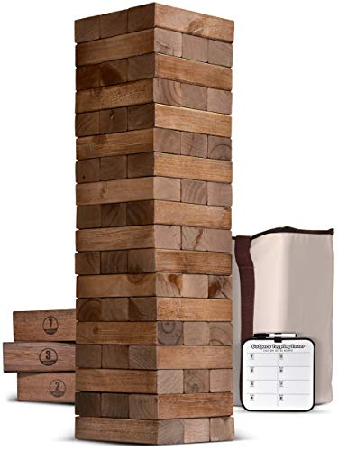 GoSports Giant Wooden Toppling Towers