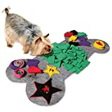 KaraLuna Schnüffelteppich für kleine & mittlere Hunde I 60x32cm I Schnüffelrasen Hundespielzeug Nasenarbeit