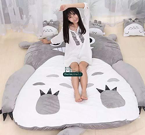 Totoro Matratze, 130 x 190 cm, weich, dick, Comic, Tatami, Cartoon-Motiv, niedliche Matratze, Schlafsack, Chinchilla, einzigartig, Sofabett