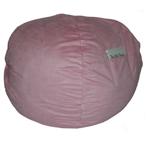 Fun Furnishings Large Beanbag, Pink Micro Suede