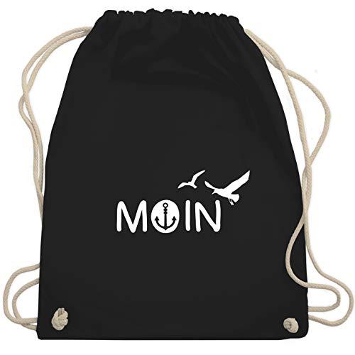 Shirtracer Statement - Moin - Unisize - Schwarz - turnbeutel moin - WM110 - Turnbeutel und Stoffbeutel aus Baumwolle
