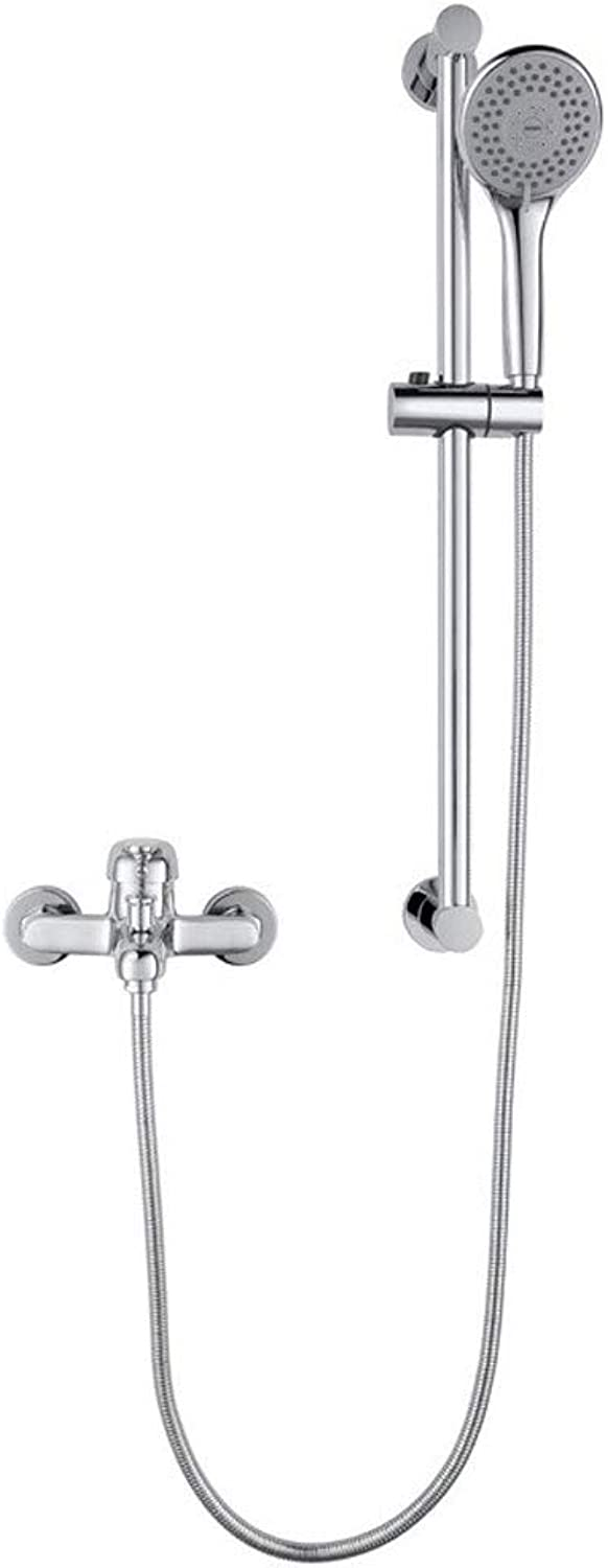 Y-H HY Shower Set Household Bathroom Simple Shower Body Copper Faucet Shower Head Set
