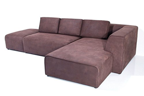 Kare Sofa Infinity Antique 74 Ottomane Rechts Braun Stoff B302xT182xH70 by Design