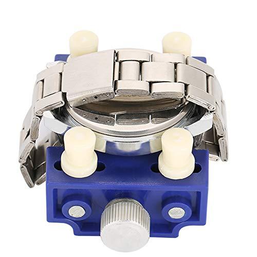 Herramienta de reparación de relojes Herramienta de tornillo de banco Metal y plástico Práctico Adecuado para simplificar el trabajo de reparación de relojes(Blue)