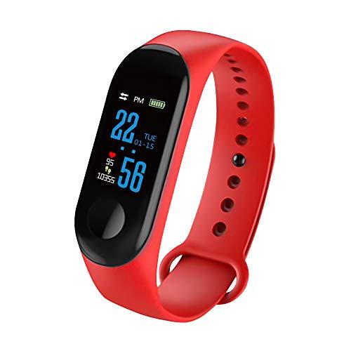 GGHKDD Smartwatch, Smartband M3 IPS-Farbbildschirm, Smart-Sport Fitness Armband, wasserdicht gemäß IP67,Blutdruckmessung, Smartmode, Sauerstoff-Aktivitäts-Tracker,Armband für alle Android-Smartphones