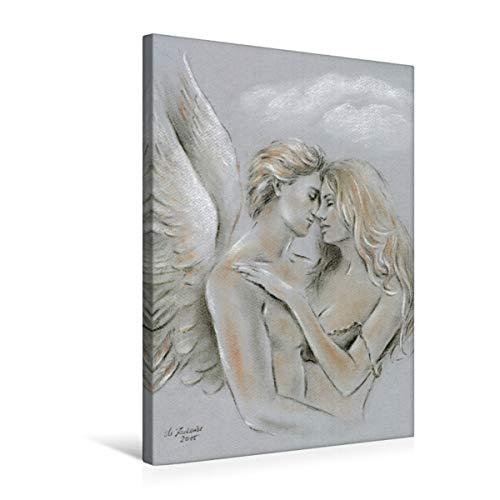 Premium Textil-Leinwand 50 x 75 cm Hoch-Format Engel auf Erden | Wandbild, HD-Bild auf Keilrahmen, Fertigbild auf hochwertigem Vlies, Leinwanddruck von Marita Zacharias