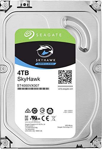 Seagate Surveillance Skyhawk 72004TB HDD 7200rpm SATA Serial ATA 6GB/s 64MB Cache 8,9cm 3,5zoll 24x 7Funzionamento Continuo Blk
