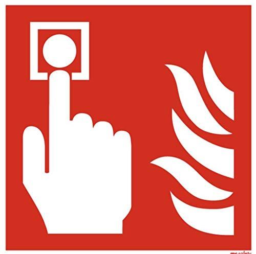 Brandmelder Feuermelder Symbol Schild Brandschutzzeichen 15x15 nachleuchtend von MBS-FIRE