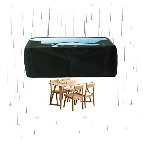 YJFENG Patio Mueble Cubierta A Prueba De Polvo, Cubierta De Mesa Rectangular, Paño Oxford 600x300D, Impermeable A Prueba De Viento De Nieve, para Exterior (Color : Green, Size : 286x286x82cm)