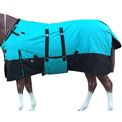 HILASON 78 in 1200D Winter Waterproof Poly Horse Blanket Bellywrap