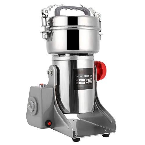 Elektrische Getreidemühle,750G Edelstahl Doppelklingenkopfmühle Hochgeschwindigkeits-Gewürzkräutermühle Pulverisierer Superfeine Pulvermaschine,geräuscharm und energiesparend(EU)