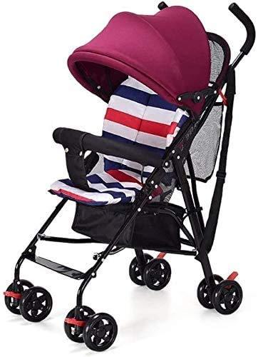 GPWDSN compacte opvouwbare kinderwagen, ultralicht, draagbaar, opvouwbaar, voor zomer en paraplu, geschikt voor kinderen van 0-44 kleuren (blauw)