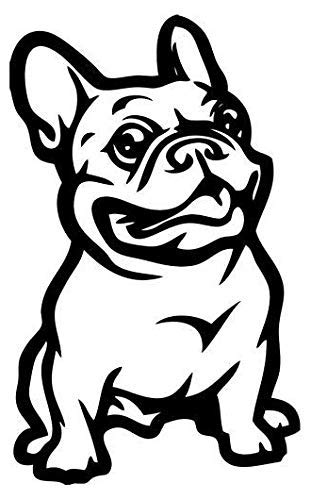 French Bulldog Pet Animal - Sticker Graphic - Auto, Wall, Laptop, Cell, Truck Sticker for Windows, Cars, Trucks