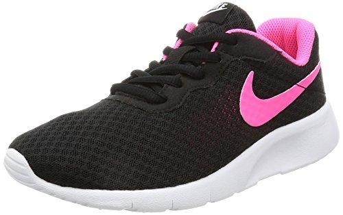 Nike Mädchen Tanjun (Gs) Laufschuhe, Schwarz (Black/Hyper Pink-White), 36 EU