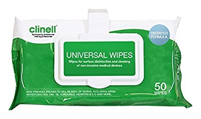 Clinell Universal Wipes - Clip Pack of 50 from Gama Healthcare