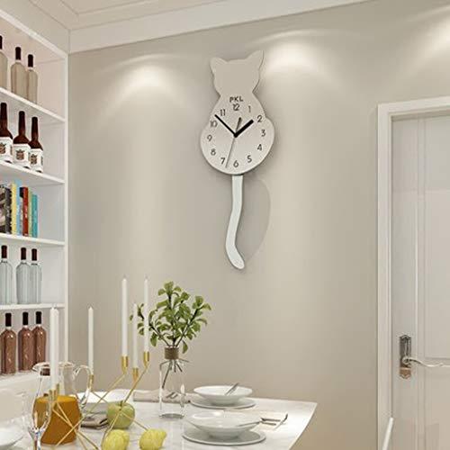 Personnalité créative moderne Horloge murale Salon Simple Mode Calme Swing Nord Européen Décoratif Horloge À Quartz