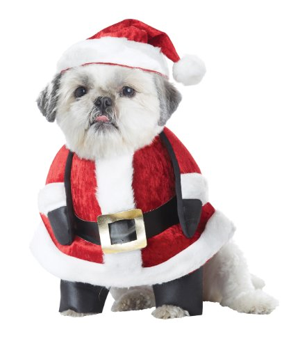 California Costumes Collections Santa Pup Dog Costume, Petite