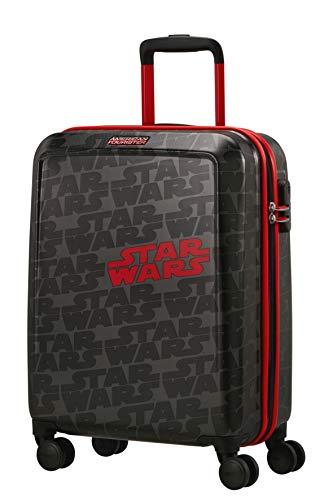 American Tourister Funlight Disney - Spinner S Equipaje de Mano, 55 cm, 36 L, Gris (Star Wars Logo)