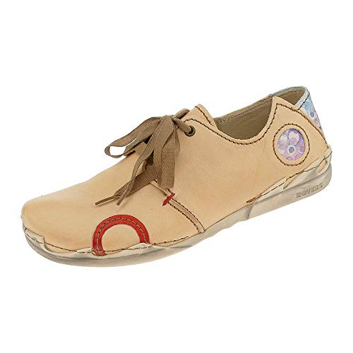 Rovers Damen Schuhe Leder Schnürhalbschuhe 54001 Größe 40