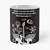 Générique Coding Developer Guitar Mechanical Playing Programmer Software Like Metal is Heavy Science Metallica Meilleur Cadeau Tasse à café 11 oz !