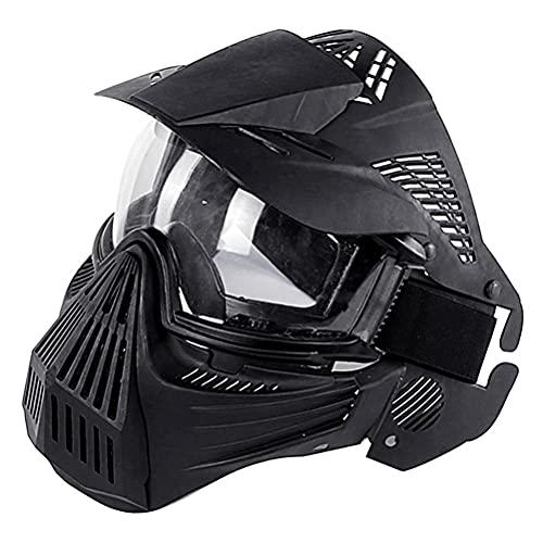 Masque de paintball, équipement de protection faciale pour masque Airsoft, coussinets faciaux Airsoft, pour jeux CS, jeux de survie, fêtes en plein air, jeux de rôle, mascarades, Halloween, 26 cm * 23