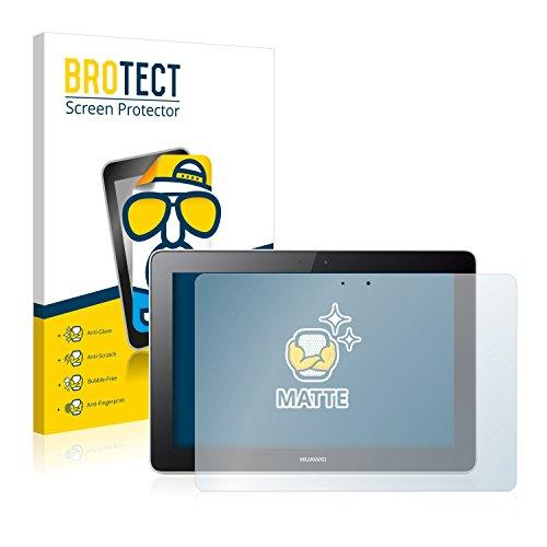 BROTECT Protector Pantalla Anti-Reflejos Compatible con Huawei MediaPad 10 Link (2 Unidades) Pelicula Mate Anti-Huellas