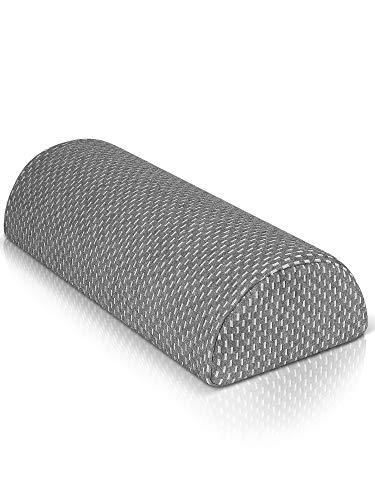 Cojines cilindricos para relajar las piernas y las rodillas - Cojin lumbar con funda lavable certificada por OEKO TEX - Almohada piernas dormir con cojín de espuma con memoria - Cojines pequeña