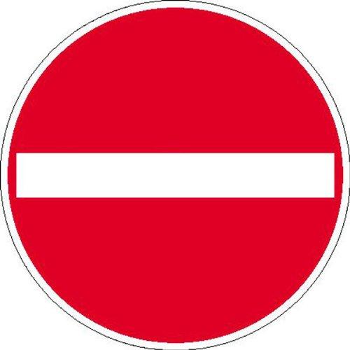 Betriebsausstattung24® Verbot der Einfahrt Verkehrsschild/Betriebs- und Privatkennzeichnung, Alu, 50 cm