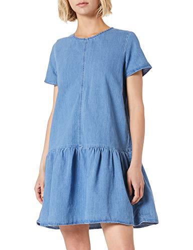 Noisy may Damska sukienka Nmemilia S/S Dress Mb Bg Noos, niebieski (medium blue denim), L