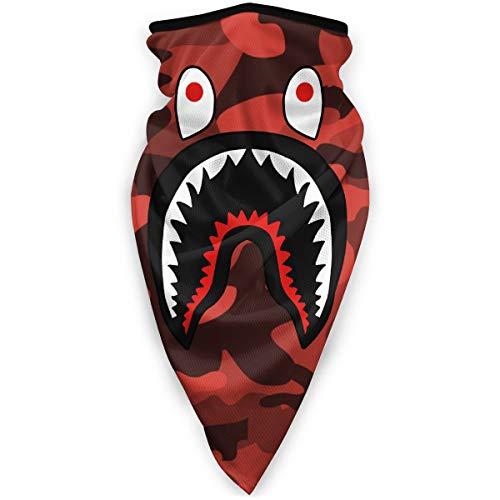 Bape Shark Red Camo Neck Gaiter Warmer Windproof Mask Dust Face Clothing Free UV Face Mask