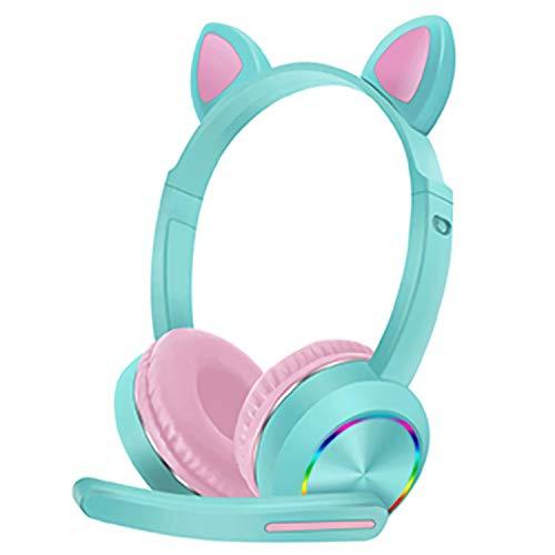 Cuffie Bluetooth per Bambin, Cuffie Over Ear Comode, Cuffie Bluetooth Wireless con Microfono, Cuffie Audio Super Morbido per Corso Online, TV, Cellullari, PC