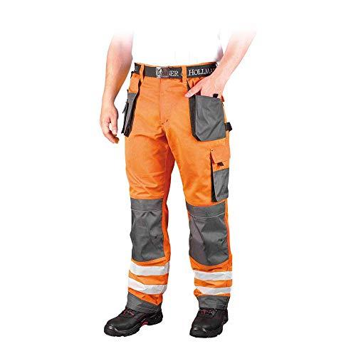 Leber&Hollman LH-FMNX-T_PSB52 Formen Schutzhose, Orange-Grau-Schwarz, 52 Größe