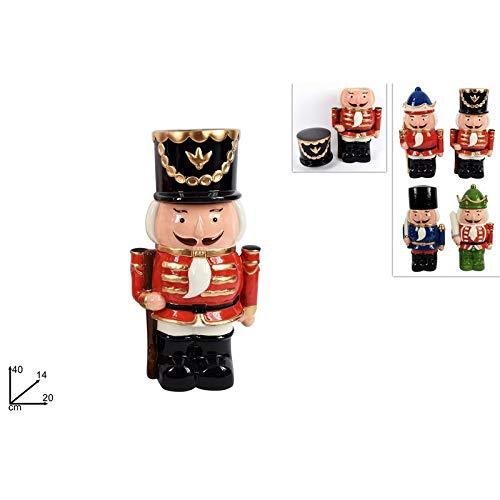 Twee esse Kerst Jar, Notenkraker, Algemeen, Keramisch, 30x12x16 cm, Multi kleuren, 40 cm