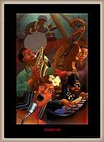 ポスター ジャスティン ブア Jazz Quintet 額装品 ウッドベーシックフレーム(オフホワイト)