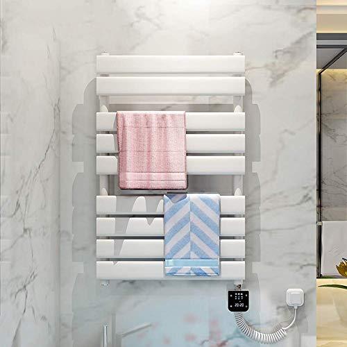 Toallero eléctrico Radiador de baño,acero con bajo contenido de carbono,montado en la pared WIFI inteligente Control de temperatura Calentador de estante de secado Estante de baño Colgante-31.49 * 19.
