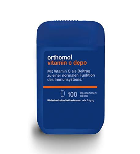 Orthomol Vitamin C depo - 100 Tabletten - Nahrungsergänzungsmittel mit Citrusbioflavonoiden für gleichmäßige Freisetzung