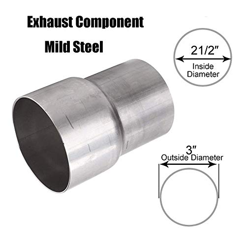 """Price comparison product image BLACKHORSE-RACING 2 1 / 2"""" 2.5"""" ID to 3"""" OD Universal Exhaust Pipe to Component Adapter Reducer Stainless Steel"""