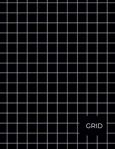 Black Grid Check Notebook: Perfect gift for a male friend or boss lined 120 pages 8.5 x 11 dimension