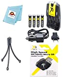 AA Charger 110/240V + 4 Batteries + Card Reader + Tripod for Canon NB4-300 NB4300, Canon SX110, Canon SX150 IS SX120, Canon SX130, Canon A800
