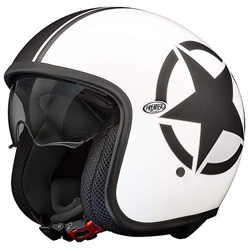 Premier HELM VINTAGE STAR 8 BM,WEISS/SCHWARZ,XL