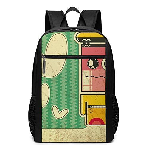 Schulrucksack Trauriger Game Boy, Schultaschen Teenager Rucksack Schultasche Schulrucksäcke Backpack für Damen Herren Junge Mädchen 15,6 Zoll Notebook