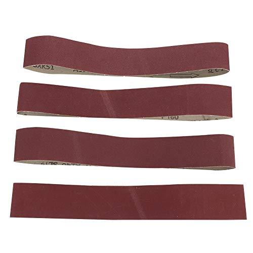 Nicoone 10 unids 686x50mm lijadora lijadora banda abrasiva para madera de metal suave (180)