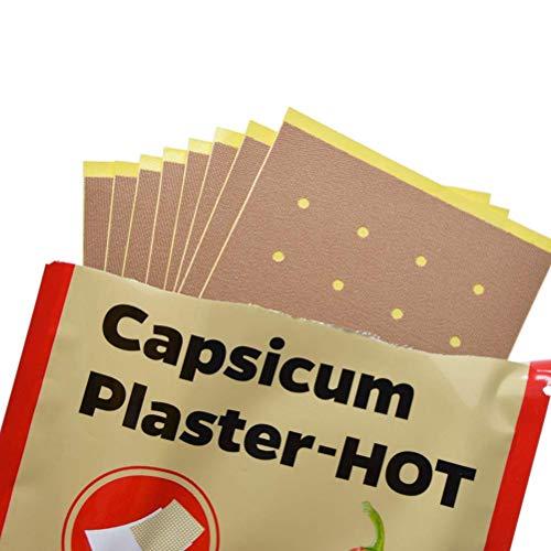 LifeBest 40 Stück atmungsaktives heißes Capsicum-Pflaster für Gelenke Salbenaufkleber Schmerzlinderung Patch Chinesisches medizinisches Capsicum-Pflaster