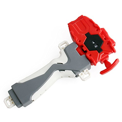Beyblade Metal Spinner Masters Fusion Beat Power Launcher + Launcher Seisure Interesante Juguete para niños (Rojo)