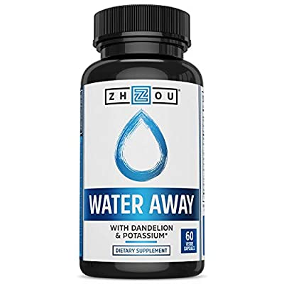 WATER AWAY Herbal Diuretic for Healthy Weight Loss & Water Balance - Premium Herbal Blend with Dandelion, Potassium, Green Tea & More - 60 capsules - Manufactured in the USA