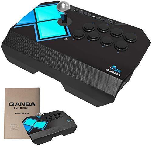 【 正規品 3ヶ月保証 日本語説明書付き】アケコン Qanba EVO Drone コントローラー PS3 PS4 エボ ドローン 三和電子製押しボタン・レバー搭載 クァンバ