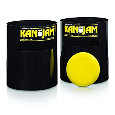 Kan Jam Portable Disc Slam Outdoor Game - Features Durable, Weather Resistant Material - Includes 2 Kan Jam Targets and 1 Flying Disc; Multiple Styles Available