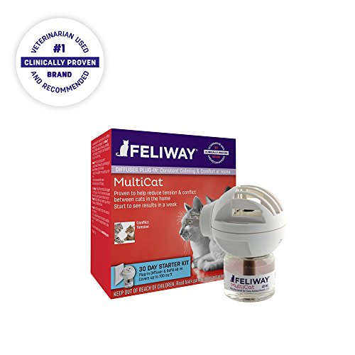 Feliway MultiCat Diffuser Starter Kit | Constant Harmony & Calming Between Cats...